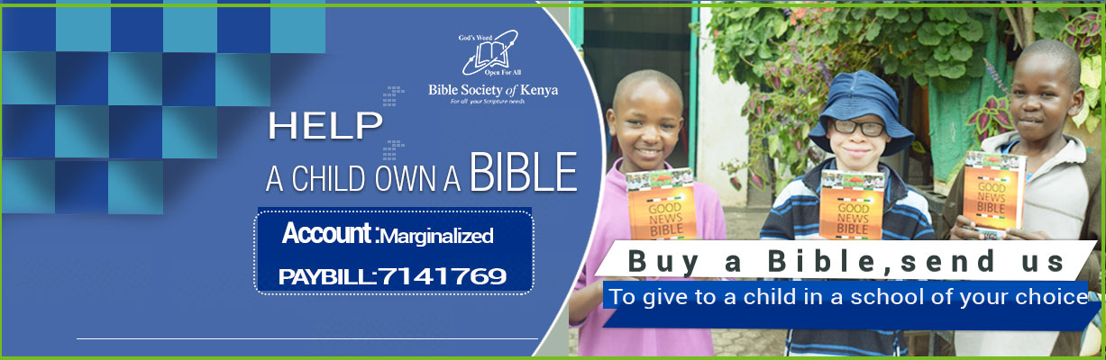 Help a bibleless child own a bible