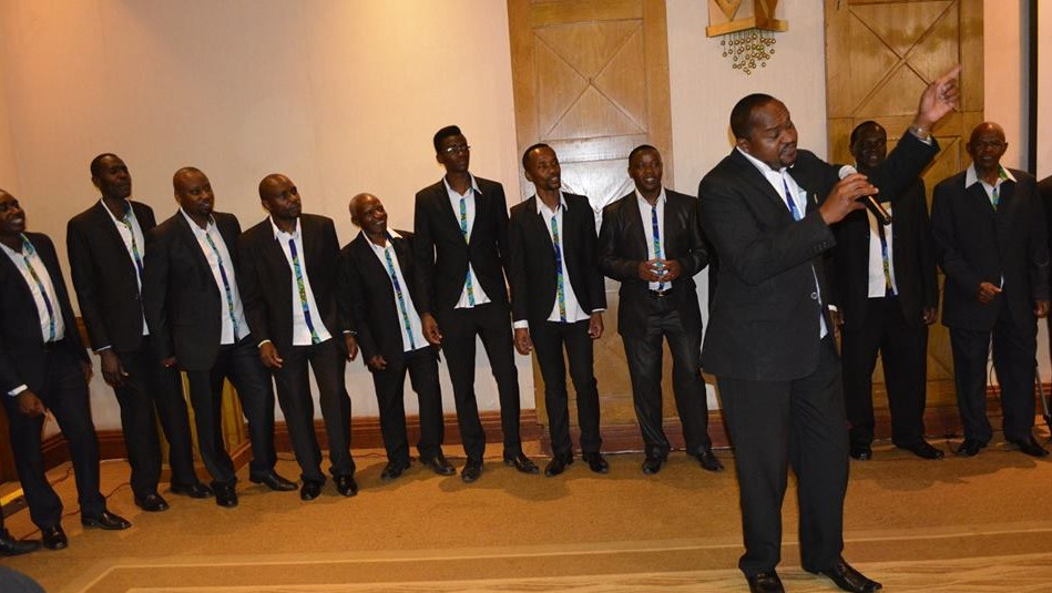 Men's Chorale entertaining the audience during the fundraising dinner at The Intercontinental Hotel